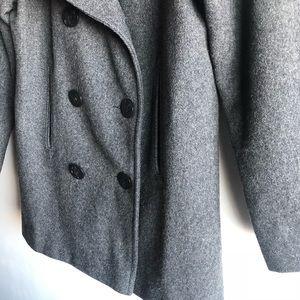 Marvin Richards Jackets & Coats - Marvin Richards grey wool pea coat